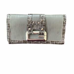 Guess Wallet with Faux Croc Embossing , Grey